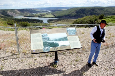 Photo Credit  Kyla Corpuz | City councillor Larry Evans explains one of the two plaques unveiled at the Lookout Point in Fort St. John on Aug. 27.