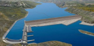 An artist's rendering of the proposed Site C Clean Energy Project. Photo: BC Hydro