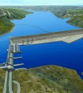 Artist rendering of BC Hydro Site C dam. Photo: SiteCProject.com