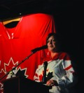 Lori Ackerman, mayor of Fort St. John, at a kick-off event for the 2015 World Under-17 Hockey Challenge in Dawson Creek September 9. Photo: Stacy Thomas