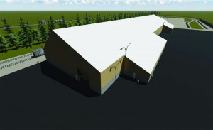 Rendering of proposed building. Photo: Screenshot from proponent presentation