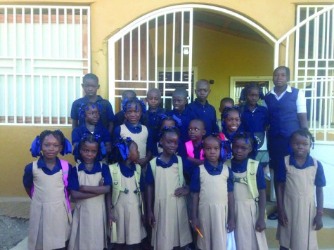 Students on the first day of school at the Mission of Grace school in Haiti. Photo: Submitted
