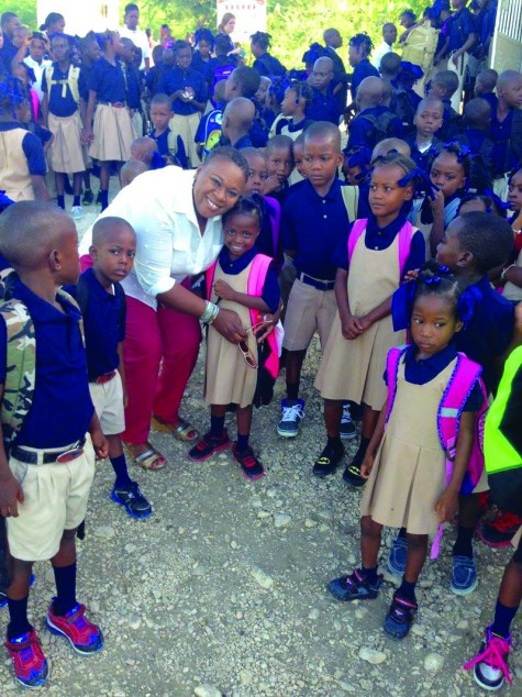 Miss Linotte and Mission of Grace students in Haiti. Photo: Submitted