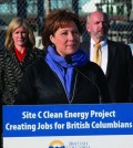 B.C. Premier Christy Clark makes the contract announcement in Burnaby. Photo: B.C. Government