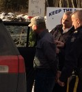 Protester, Mark Myers was arrested during the Site C  protest  on Wednesday, Dec. 2.  Photo: Julia Lovett