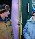 Defendant Ken Boon speaks to David Suzuki weeks before the claim was filed. Photo: Julia Lovett