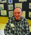 Fred Richter is a regular participant in the art classes being held at Rotary Manor in Dawson Creek. Photo: Stacy Thomas